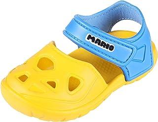 Comwarm Baby Girl Boy Summer Closed Toe Sandals Anti-Slip Lightweight Beach Clog Shoes for Kids