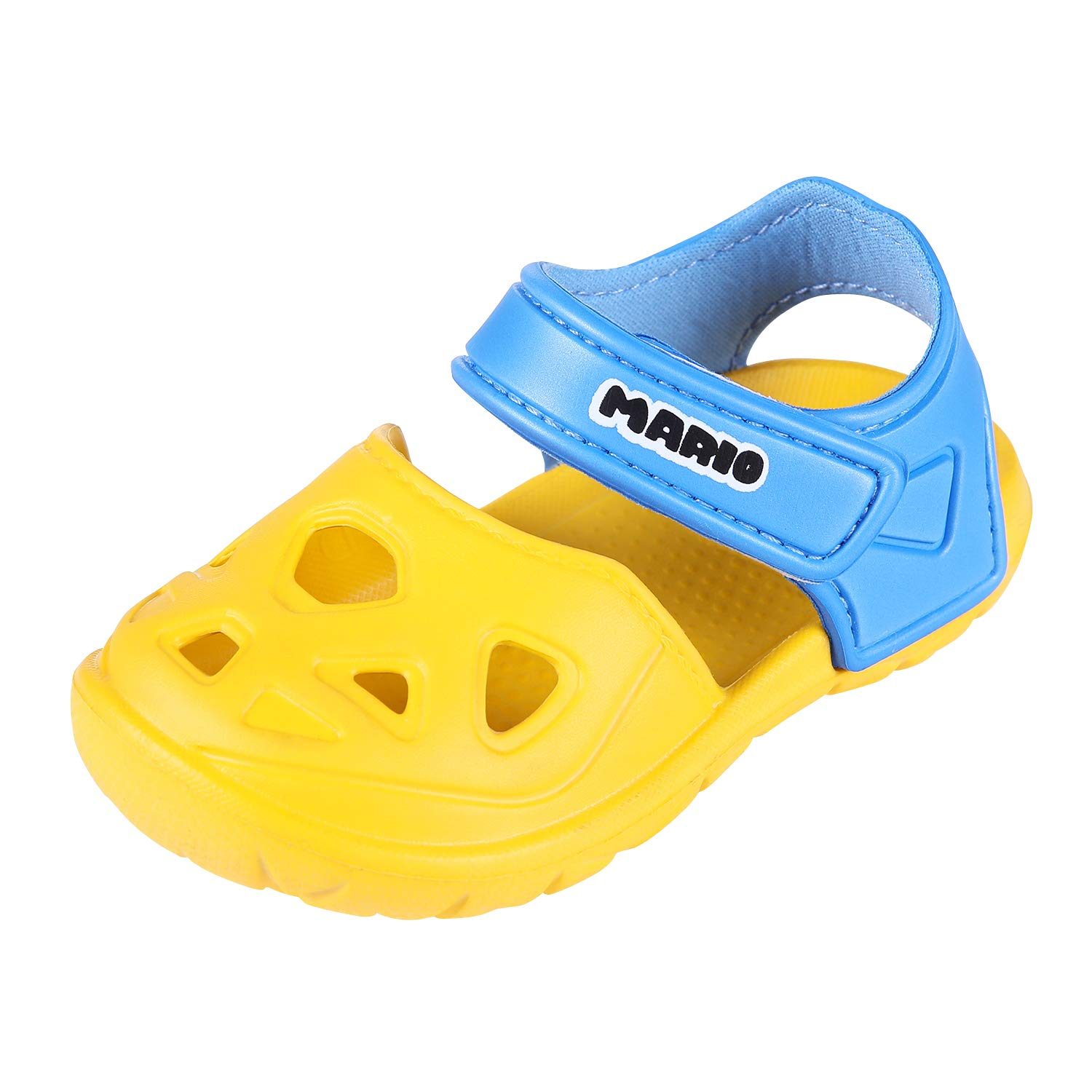 Comwarm Baby Girl Boy Summer Shoes Closed Toe Lightweight Sandals Anti-Slip Beach Shoes for Toddler 1-5 Years Old