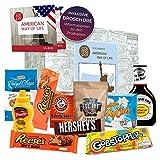 Caja de regalo excepcional de American Way of Life | Regalo para hombres mujeres | set de regalo especial America Sweets + BBQ | Regalo de cumpleaños de caja de regalo de caja de EE. UU.