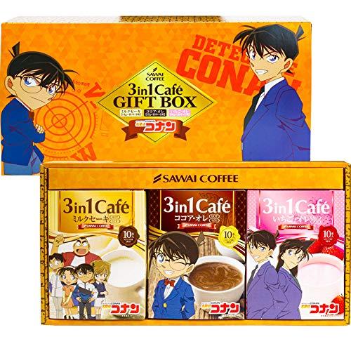 澤井珈琲 コーヒー 専門店 名探偵コナン 3in1Cafe 3箱 ギフト セット