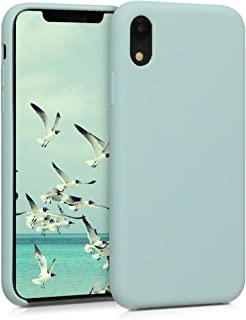 kwmobile TPU Silicone Case Compatible with Apple iPhone XR - Soft Flexible Rubber Protective Cover - Mint Matte