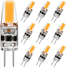 G4 LED Bulb 2W Equivalent to 20W T3 JC Type Bi-Pin G4 Base Halogen Bulb, AC/DC 12V Warm White 3000K G4 Bulb for Under Cabi...