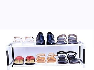 Bae store Foldable Shoe Stand/Shoe Rack/Collapsible Shoe Rack/Portable Shoe Rack (pvc tub & Non-Woven Fabric) (2 Shelves)