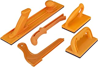 POWERTEC 71009 Safety Push Block and Stick Set | 5 Pack | Ergonomic Handles with Max Grip..