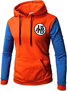 Lichee Mens' Dragon Ball Z Goku Pullover Anime Hoodies Printed Sweatshirt Cosplay Costume