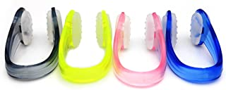 BRBD 4Sets Anti-Slip Dotted Swimming Nose Clip with Package for Adults (Multi-Color)