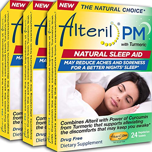 Alteril PM 3-Pack - Alteril PM with Turmeric Natural Sleep Aid – Alleviates Aches and Soreness That May Keep You Awake!