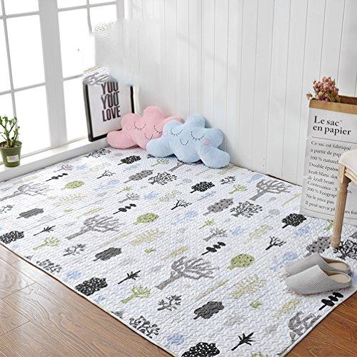 Rug ZI LING Shop- tapijt, home katoen, anti-slip tapijt, slaapkamer, rechthoekig nachttapijt, kinderkruipen, machinewasbaar