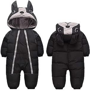 0-4T Baby Warm Thick Onesie Down Jacket Cute Little Dog Hood Winter Snowsuit