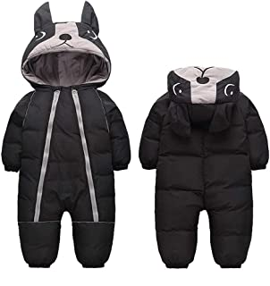 Ohrwurm 0-4T Baby Warm Thick Onesie Down Jacket Cute Little Dog Hood Winter Snowsuit
