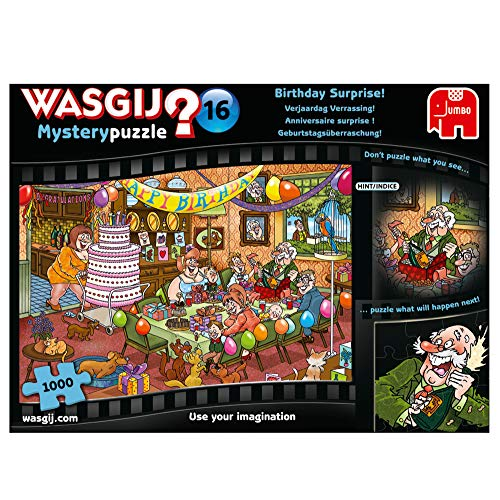 Jumbo Spiele GmbH JUM19165 Wasgij Mystery 16: Geburtstagsüberraschung Puzzle (1000 Teile)