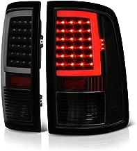 VIPMOTOZ OLED Neon Tube Tail Light Lamp For 2009-2018 Dodge RAM 1500 2500 3500 - [Factory Incandescent Model] - Matte Black Housing, Smoke Lens, Driver & Passenger Side
