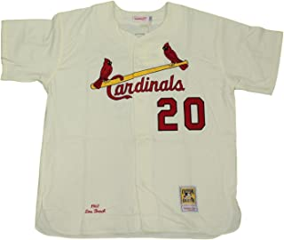 Mitchell & Ness Lou Brock St. Louis Cardinals MLB Authentic 1967 Jersey