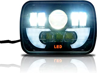 Demon LED Projector Headlight 7x6 5x7 Inch DRL H6054 200mm Seal Beam Conversion (1 Lamp)
