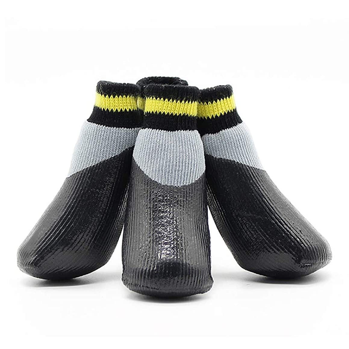 Dog Socks with Straps Traction Control Outdoor Waterproof Pet Socks Boot Shoes for Small Medium Large Dogs 4pcs