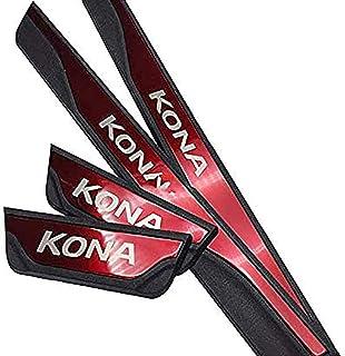 4Pcs Car Edelstahl Einstiegsleisten, für Hyundai Kona 2017 2020 Kick Plates Türschwelle Protector Pedal Aufkleber, Auto Kratzschutz Abdeckung Dekor Styling Zubehö