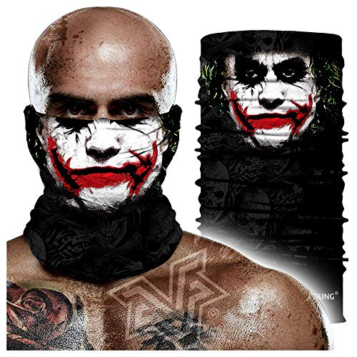 Skull Face Mask Bandanas, Neck Gaiter, Headwear, Magic Scarf, Headband for dust Sun Wind
