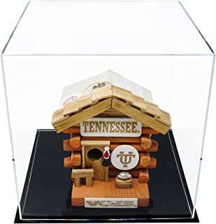 Better Display Cases Versatile Acrylic Display Case, Cube, Dust Cover or Riser with Black Base 12