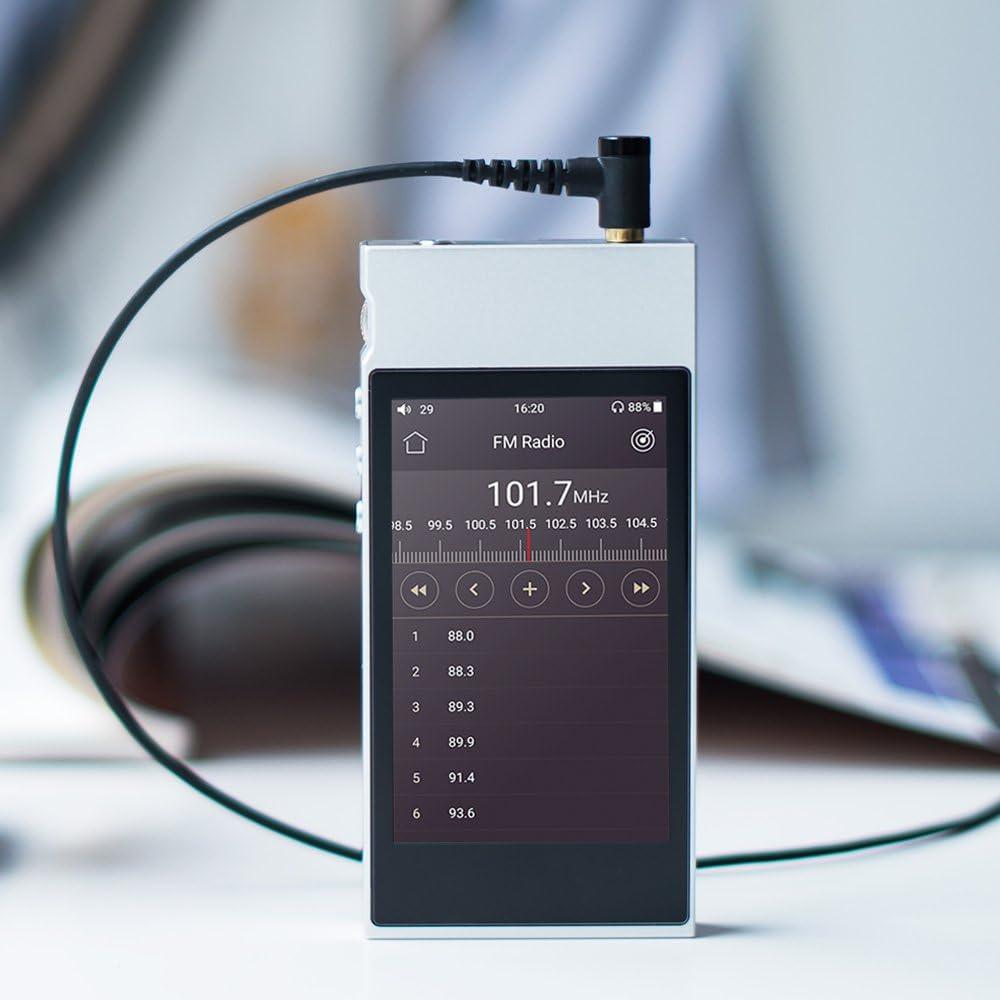 LDAC HiFi Bluetooth FM Radio and Full Touch Screen FiiO M7 High Resolution Lossless Music Player with aptX Silver aptX HD