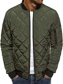 Best quilted leather bomber jacket mens Reviews
