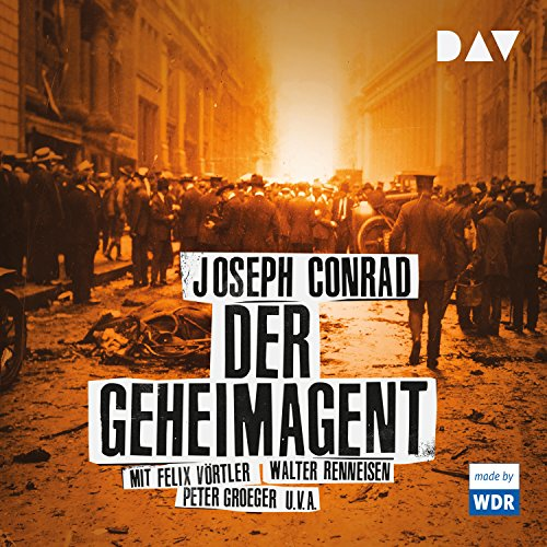 Der Geheimagent                   By:                                                                                                                                 Joseph Conrad                               Narrated by:                                                                                                                                 Felix Vörtler,                                                                                        Walter Renneisen,                                                                                        Peter Groeger                      Length: 1 hr and 45 mins     Not rated yet     Overall 0.0
