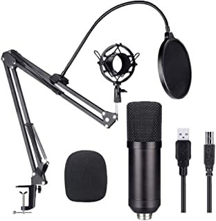 FMOGE Juego De Micrófono De Condensador Tarjeta De Sonido USB Incorporada Soporte Nb35 Micrófono De Condensador De Red Ant...
