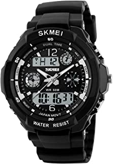Mens Digital Sports Watches-Male Teenager Electronic Waterproof Outdoor Analogue Watch-Multifunctional Gym Watch-comes with Stopwatch/ Alarm/ Timer/ LED Light/ Chronograph/ Calendar