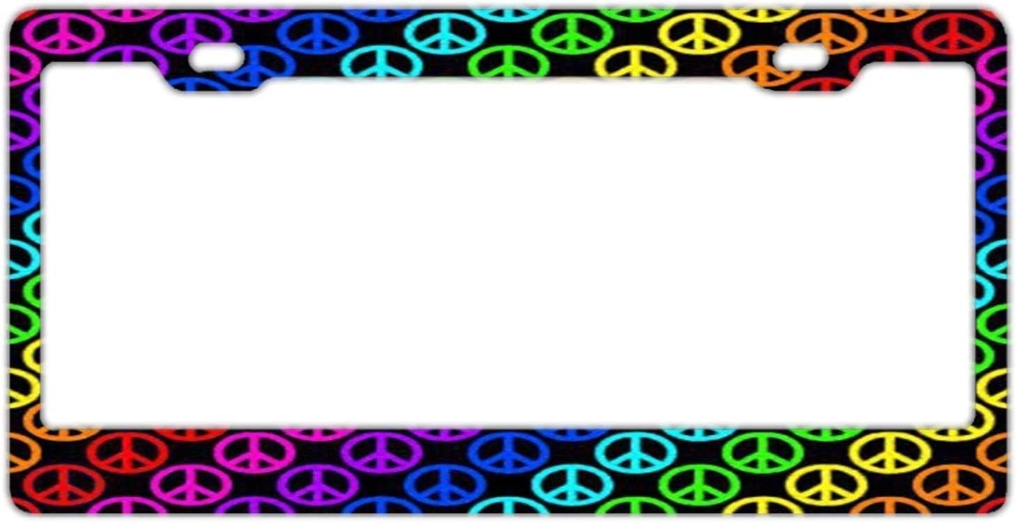 4 years warranty AHANGL License Plate Frame Rainbow Peace to US ...