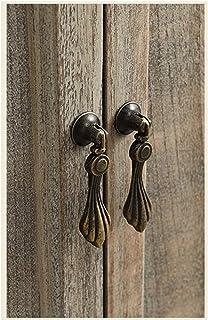 Retro Style Drawer Cabinet Drop Pull Door Knob Hanging Design Handle with Screws