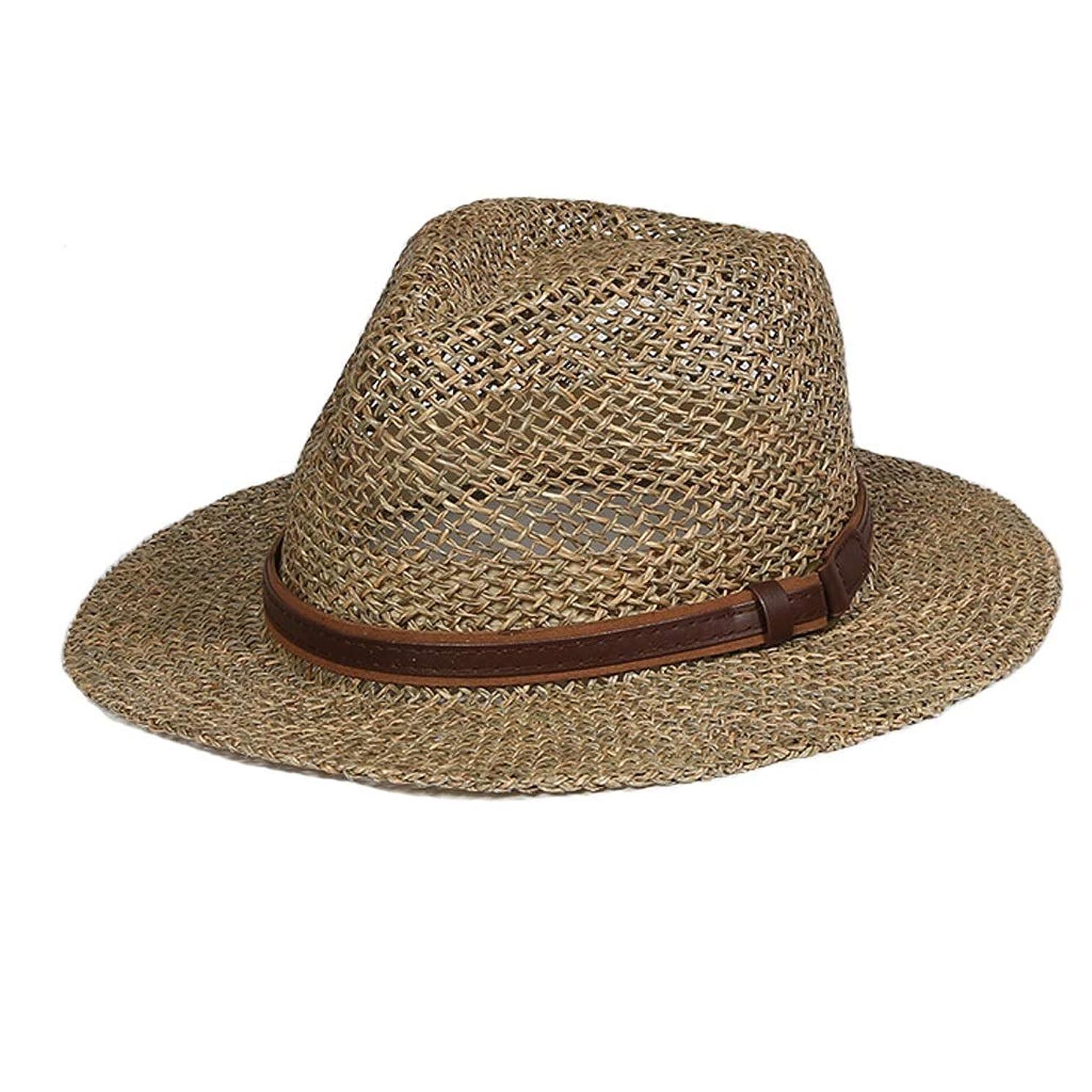 支配的抑制する粒ZFDM 帽子日焼け止め麦わら帽子日帽子調節可能なUV保護折りたたみ