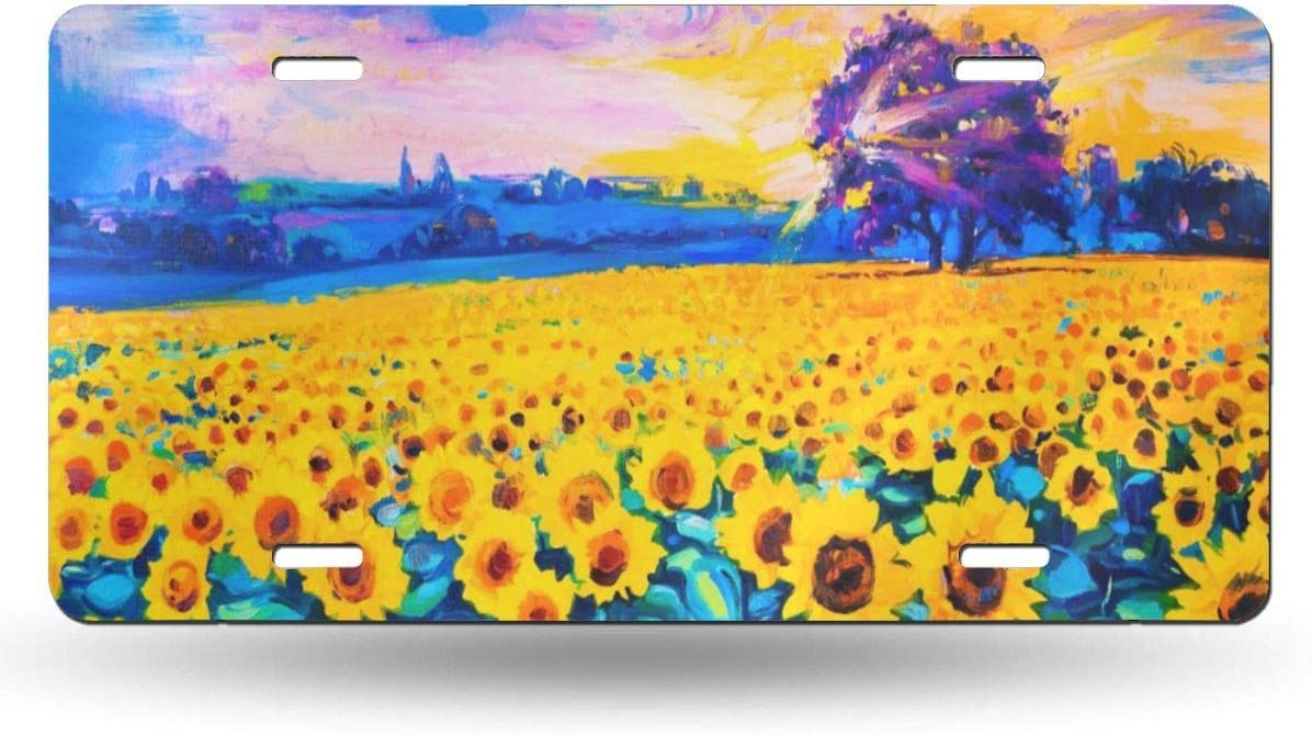 Dujiea License Plate Aluminum Sunflower Tag Cover Decorativ Direct stock discount Car Genuine Free Shipping