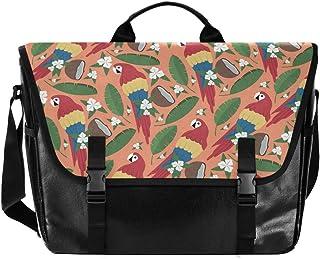 Tropical Parrot - Bolso de lona para hombre, diseño retro de loro