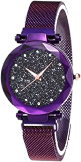 Women's Wristwatch Starry Sky Flat Glass Quartz Mesh with Magnetic Buckle Ladies Watch Women Watch Dress Watch Party Decoration Gifts