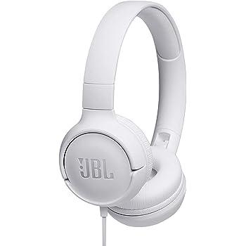 JBL Tune 500 Cuffie Sovraurali, Cuffia On Ear con Microfono e Comando Remoto ad 1 Pulsante, JBL Pure Bass Sound, Compatibile con Siri e Google, Leggere e Pieghevoli, Da Viaggio, Bianco