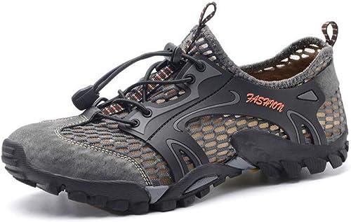 SIWENO Chaussures de randonnée pour pour pour Hommes de Haute qualité Chaussures de Course en Caoutchouc pour Hommes en Plein air 2f7