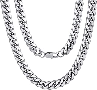 Men Chunky Miami Cuban Chain Necklace, Custom Available, 6/9/14mm Width,..