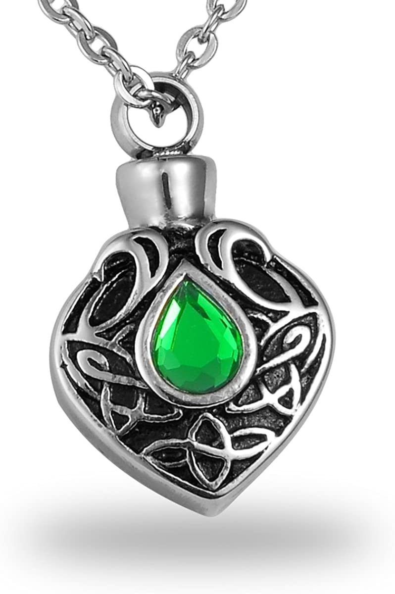 HooAMI Crystal Cremation Urn Necklace for Keepsake Popular shop is the lowest Max 85% OFF price challenge Ashes Stainle