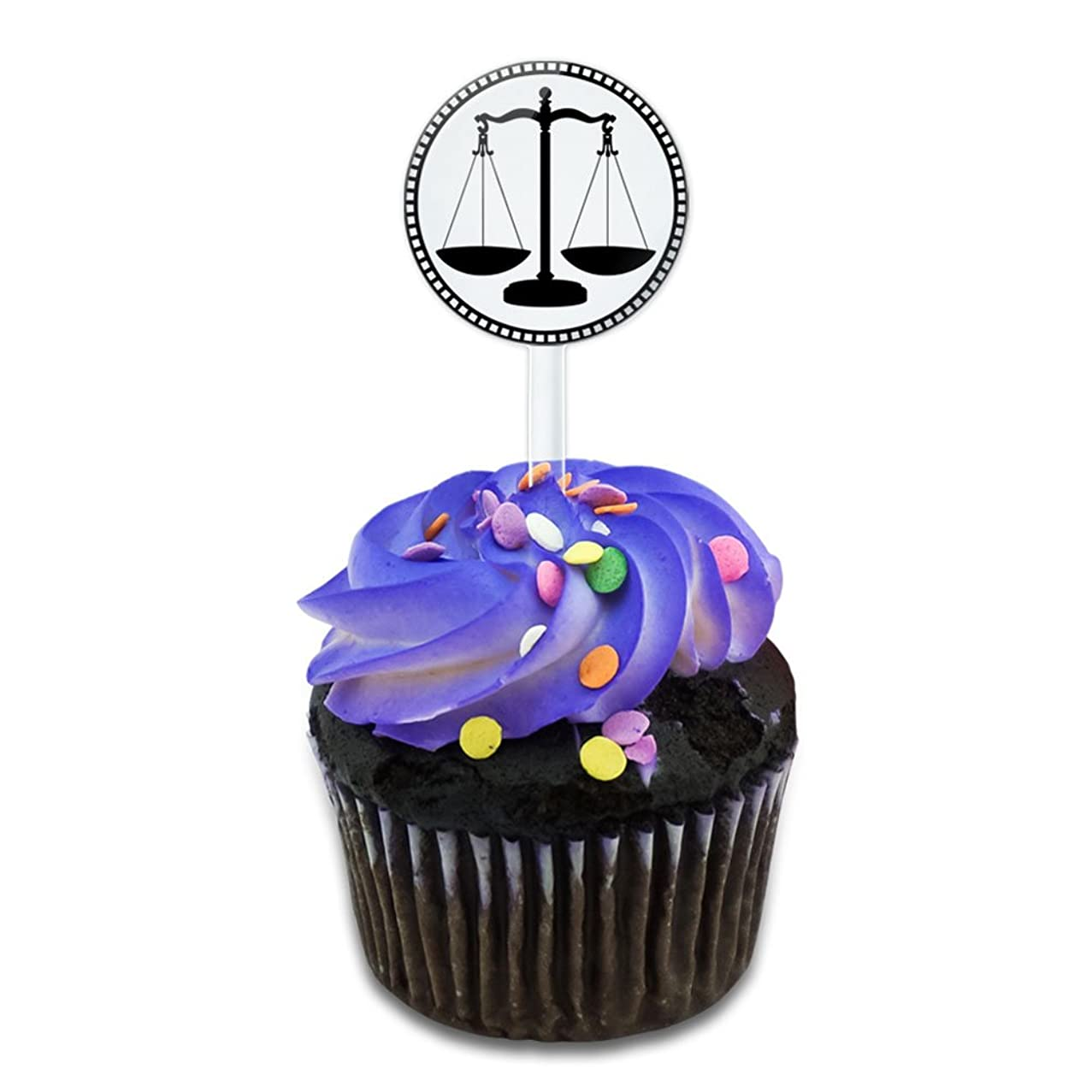 Scales of Justice Cake Cupcake Toppers Picks Set