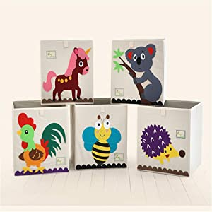 Zavddy-Home Kids Toy Storage Organizer Storage Basket For Organizing Toy Storage Baby Toys Kids Toys Dog Toys Children Books Book and Toy Organizer  Color Small animals  Size Free size