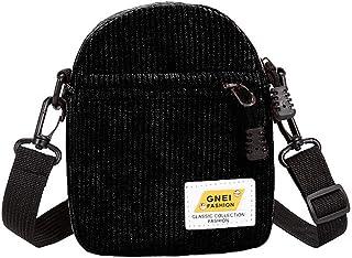 Generic Women Fashion Shoulder Bag Ladies Tote Purse Corduroy Zipper Crossbody Satchel Black