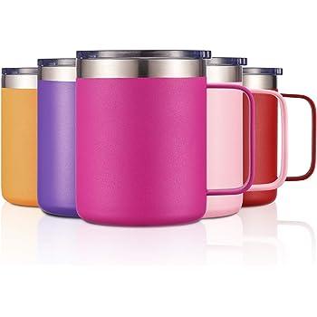 12oz Stainless Steel Insulated Coffee Mug with Handle