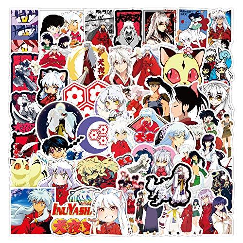 ZNMSB 50 Nuevas Pegatinas de Graffiti de Anime Inuyasha, Maleta Impermeable, portátil, Scooter, Taza de Agua, Pegatinas