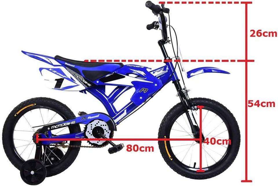 Woorea Bicicleta para Ni/ños Bicicleta de Motocross para Ni/ños,Dise/ño de Moto Unisex para Ni/ños Regalo para Ni/ños Ni/ños Monta/ña Bicicleta