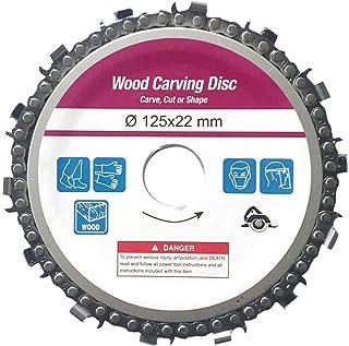 Leepesx Disco de esmerilado y disco de talla de madera de cadena para usar con amoladoras angulares de 4 y 5 o 4-1//2