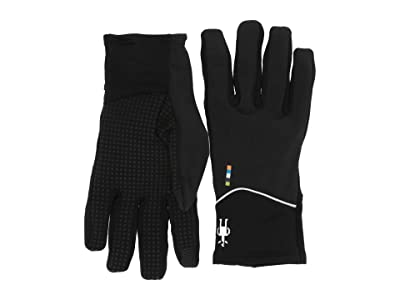 Smartwool Merino Sport Fleece Wind Training Gloves (Black) Extreme Cold Weather Gloves