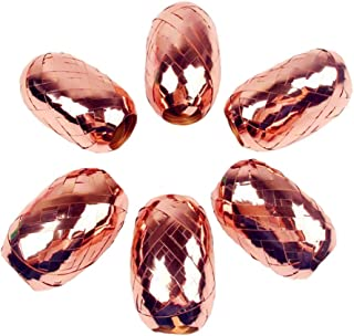 Set of 6 Rose Gold Ribbon Curling Ribbon for Wedding Birthday Party Decor Balloon Gift Wrapping