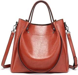 Yueling Mode Luxus Damen Messenger Bag Große Kapazität Einfache Office Lady Bag Öl Wachs Frauen Leder Handtaschen
