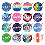 Vsco Vinyl Cute Cool Waterproof Stickers for Hydro Flask, Water Bottle, and Laptop - Suitable for Kids, Girls, Teens, Women (60 PCS NASA Decals)