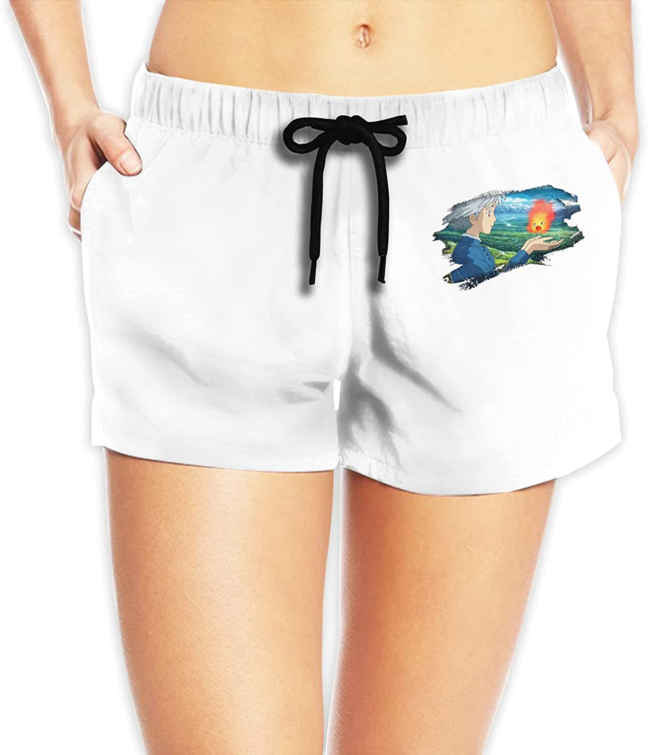Howl's Moving Castle Women Today's Direct store only Beach Swimwear Sports Shorts Trunks Q