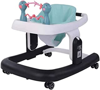 Adesign Adjustable Height Baby Walkers for Boys and Girls with Easy Clean Tray and Universal Wheels, Anti-Rollover Folding...